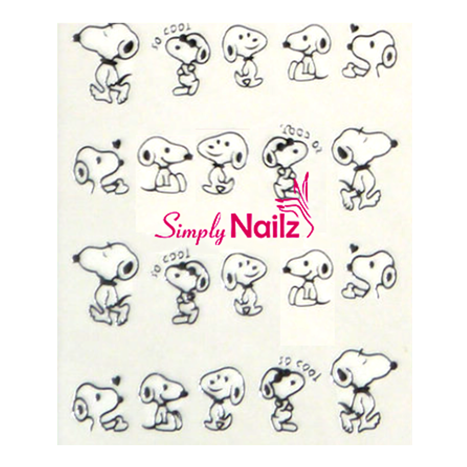 Snoopy Nail Art Water Decals