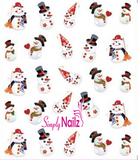 snowman christmas nail art sticker decal
