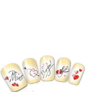 Be mine Valentines Nail Art Decal image