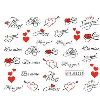 Be mine Valentines Nail Art image