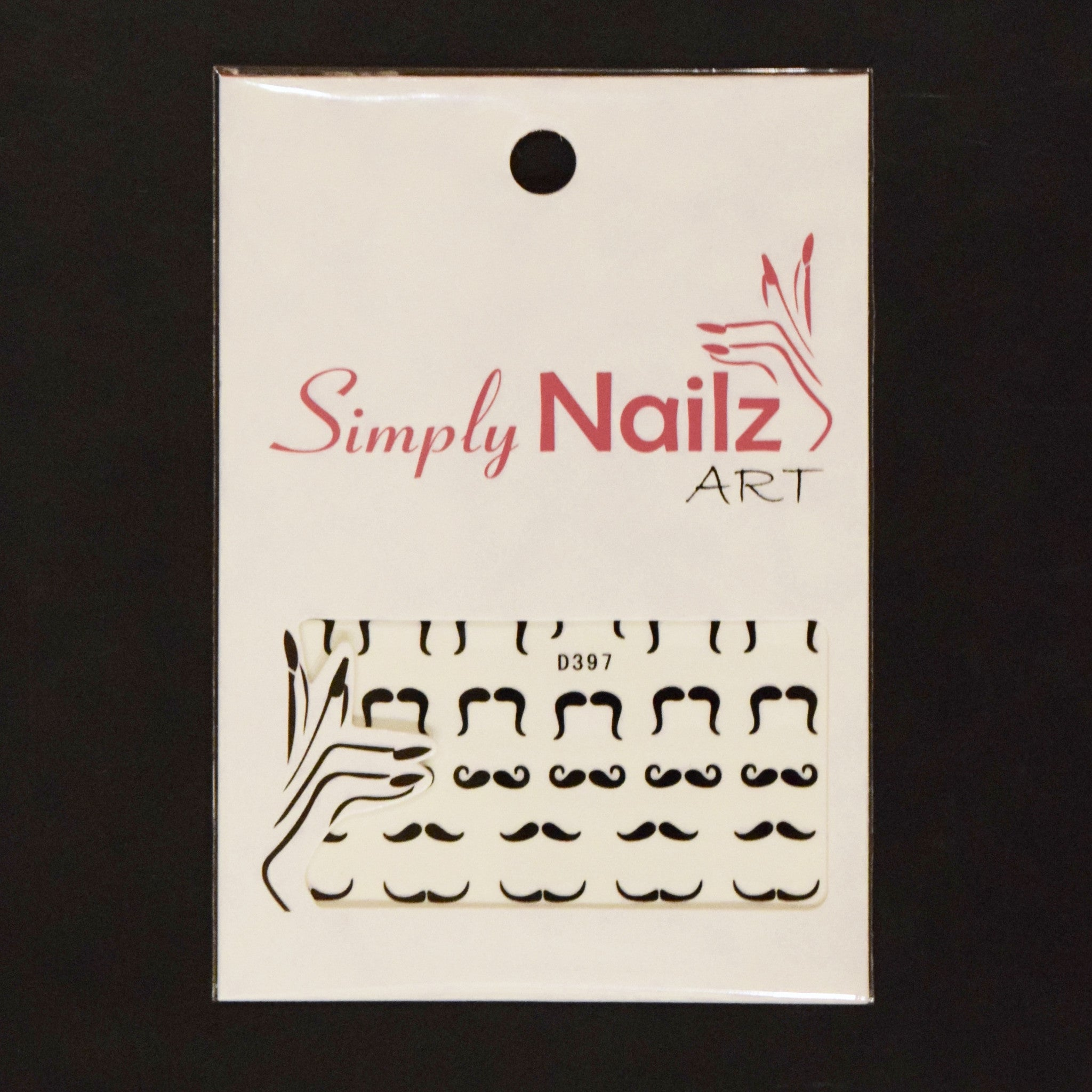 Moustache Nail Art Water Decals