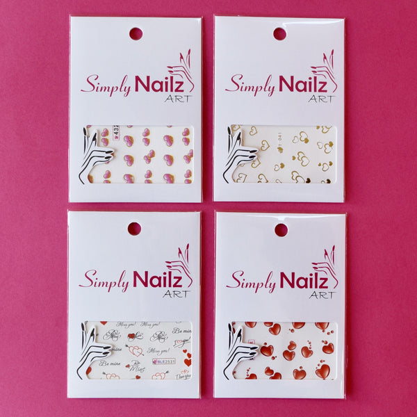 Valentines Nail Decal Bundle (4)