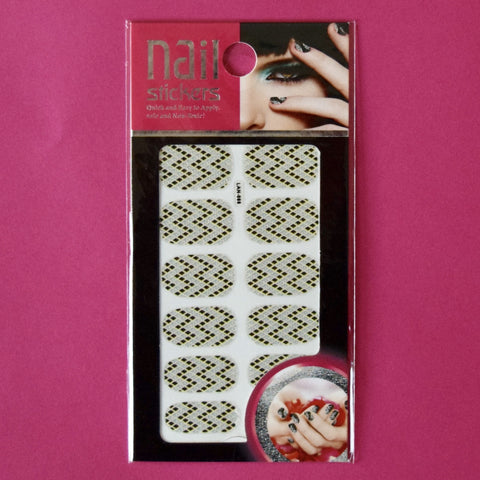 Full Nail Stickers White W design