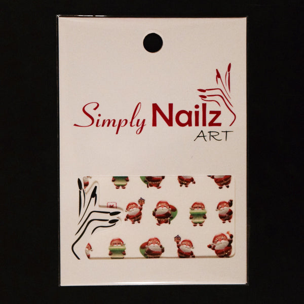 Santa Claus Nail Art Water Decals