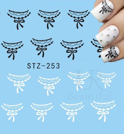 Pretty Bow Nail Decals