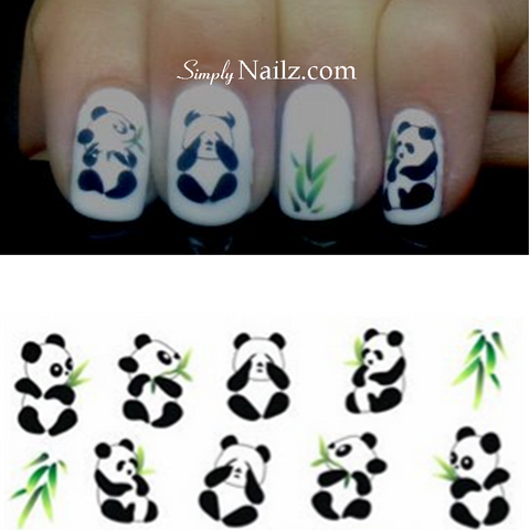 Panda Nail Art Water Decals