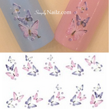 butterfly nail water decals