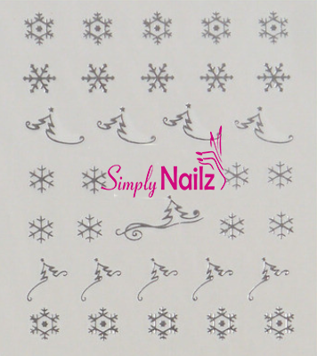 silver snow flake decal stickers