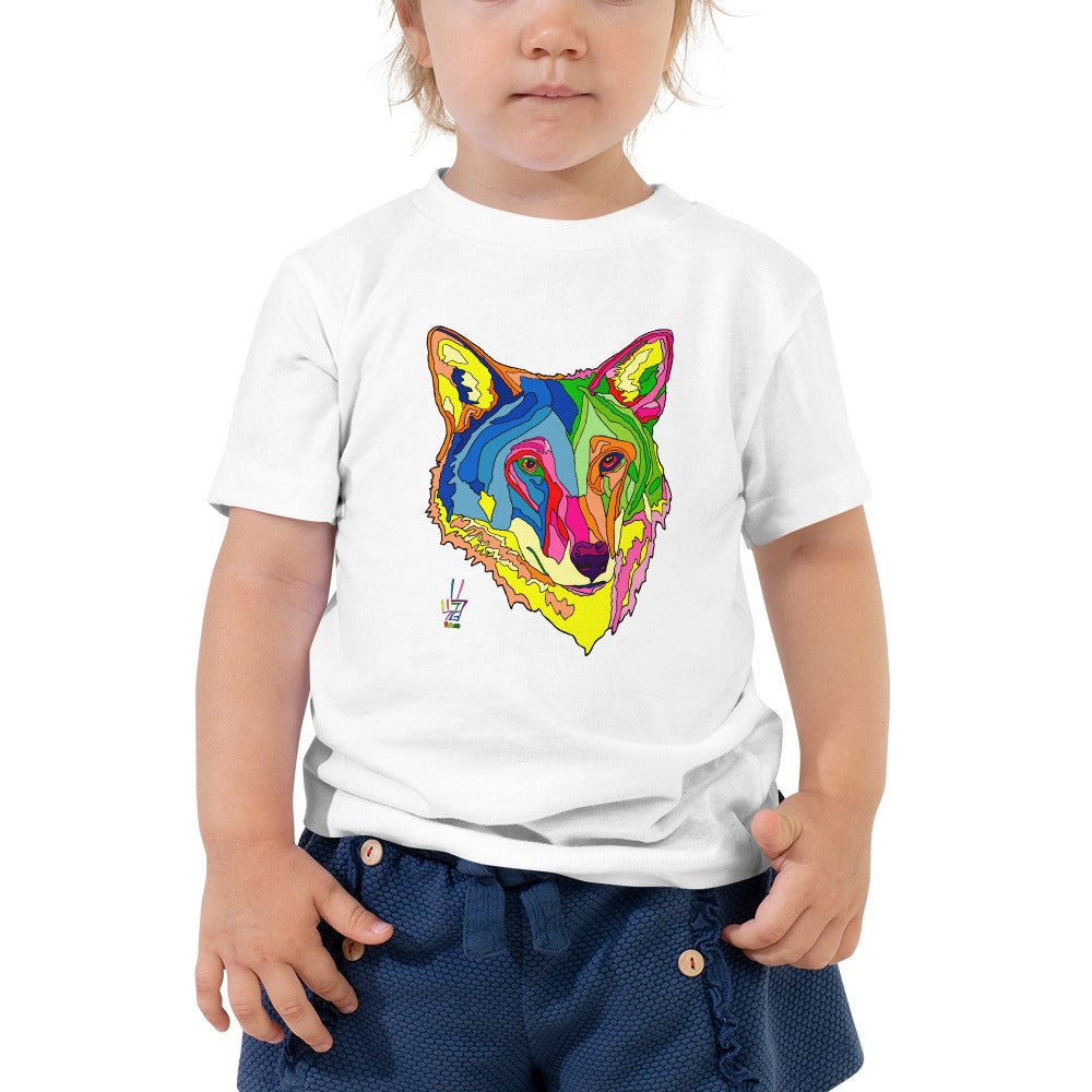 American Red Wolf Toddler Fine Jersey Short Sleeve Tee