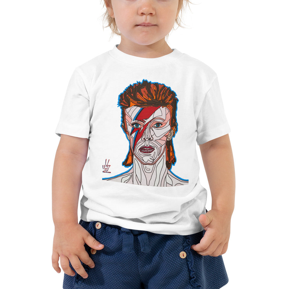 David Bowie Toddler Short Sleeve Tee
