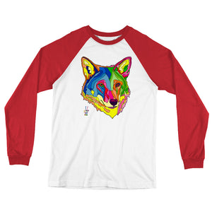 American Red Wolf Men's Long Sleeve Baseball T-Shirt