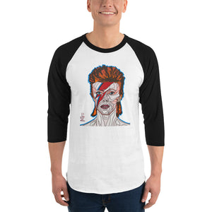 David Bowie Men's 3/4 Sleeve Raglan Shirt