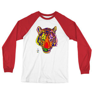 Bengal Tiger Men's Long Sleeve Baseball T-Shirt