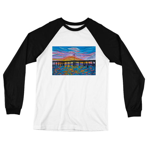 Venice Pier Men's Long Sleeve Baseball T-Shirt