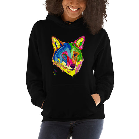 American Red Wolf Hooded Sweatshirt