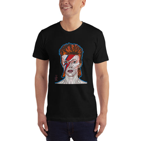 David Bowie Fine Jersey Short-Sleeve T-Shirt
