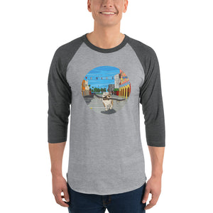 Dogtown Circle Men's 3/4 Sleeve Raglan Shirt