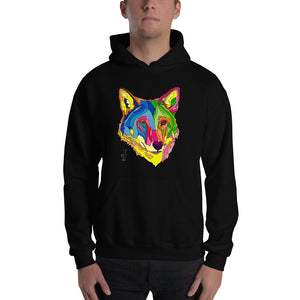 American Red Wolf Men's Hooded Sweatshirt