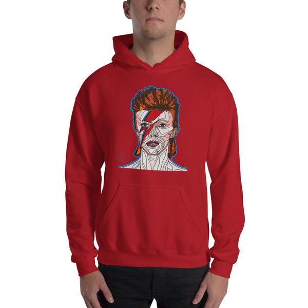 David Bowie Men's Hooded Sweatshirt