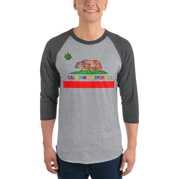 California Love Men's 3/4 Sleeve Raglan Shirt
