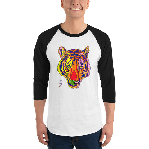 Bengal Tiger Men's 3/4 Sleeve Raglan Shirt