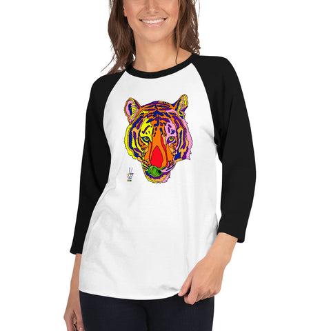 Bengal Tiger Women's 3/4 Sleeve Raglan Shirt