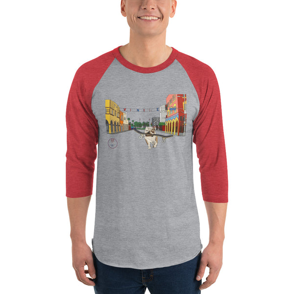 Dogtown Original Men's 3/4 Sleeve Raglan Shirt