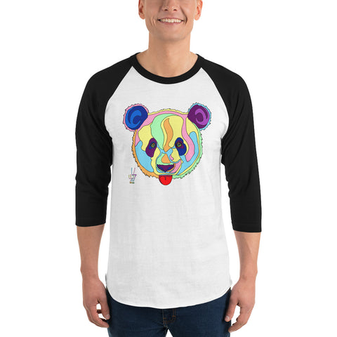 Giant Panda Men's 3/4 Sleeve Raglan Shirt
