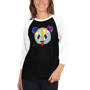 Giant Panda Women's 3/4 Sleeve Raglan Shirt