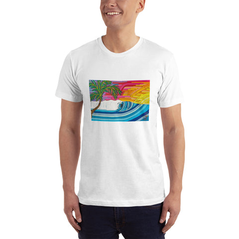 Sunset Surfer Men's Fine Jersey Short-Sleeve T-Shirt