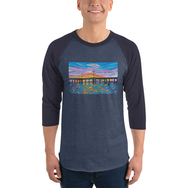 Venice Pier Men's 3/4 sleeve raglan shirt