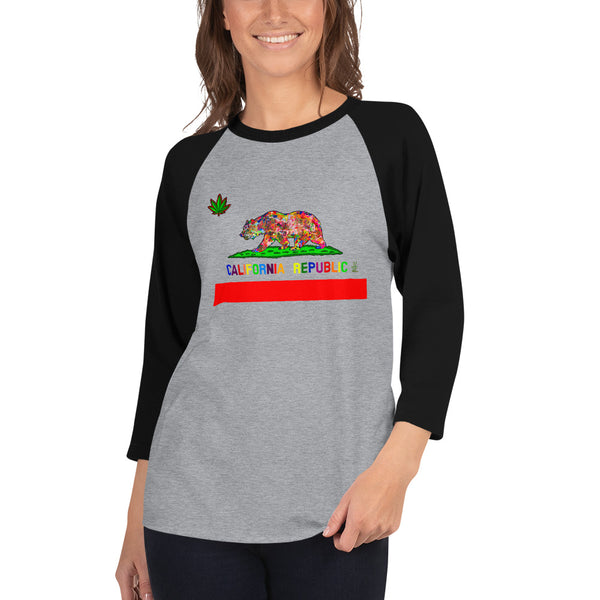 California Love Women's 3/4 Sleeve Raglan Shirt