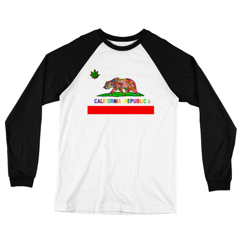 California Love Men's Long Sleeve Baseball T-Shirt