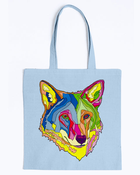 American Red Wolf Canvas Tote Bag