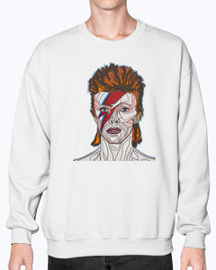 David Bowie Unisex Crew Neck Fleece Sweatshirt