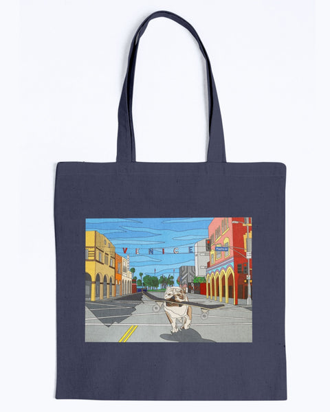 Dogtown Canvas Tote Bag
