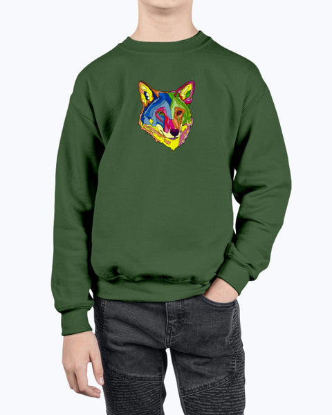 American Red Wolf Youth Fleece Sweatshirt