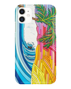 Palm Tree Sunset Surf iPhone and Samsung Galaxy Cases