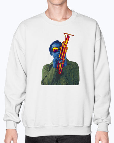 Miles Davis Unisex Crew Neck Fleece Sweatshirt