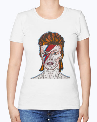 David Bowie Women's Fine Jersey Tee Shirt
