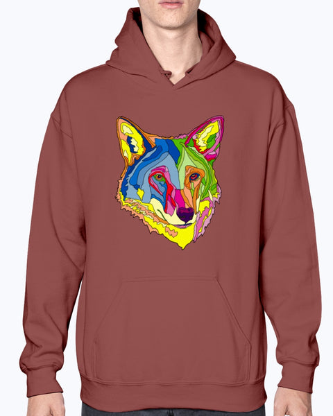 American Red Wolf Unisex Fleece Hoodie Sweatshirt