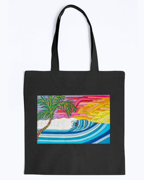 Palm Tree Sunset SurfCanvas Tote Bag