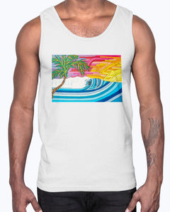 Palm Tree Sunset Surf Men's Tank Top