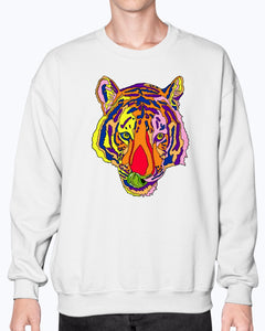 Bengal Tiger Unisex Crew Neck Fleece Sweatshirt