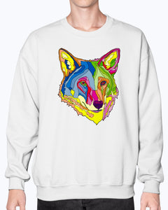 American Red Wolf Unisex Crew Neck Fleece Sweatshirt