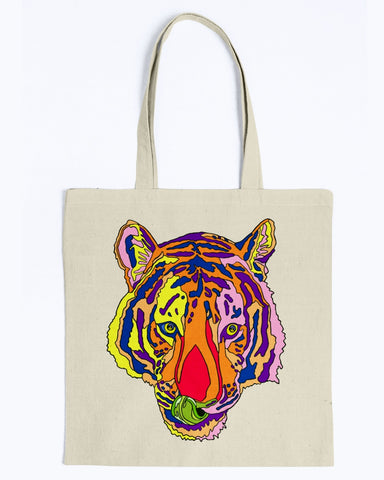 Bengal Tiger Canvas Tote Bag