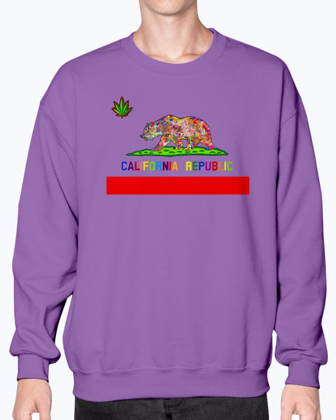 California Love Unisex Crew Neck Fleece Sweatshirt