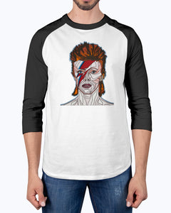 David Bowie Unisex 3/4 Sleeve Raglan Shirt