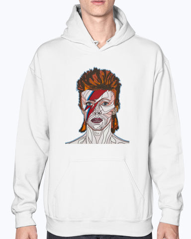 David Bowie Unisex Fleece Hoodie Sweatshirt