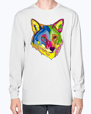 Open image in slideshow, American Red Wolf Unisex Long Sleeve Shirt
